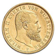 König Wilhelm II., Württemberg, 20 Mark, 7.16g Gold, 1871-1873, Gold, Deutschland, 7.16g | CoinInvest
