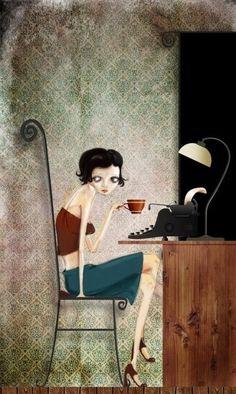 Trabajando al ritmo del café ...