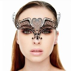 Brand New Tiara Inspired Laser Cut Masquerade Mask Our selective filigree eye masks are constructed with pure metal smoothed to be gentle to skin tolerant, feather lightweight and pliable material, so it can be donned with eased, Airy, and comfortably while attending/hosting a fancy masquerade ball party.    Handcrafted with laser cut metal lace designs complemented with swarovski rhinestones embellishments, it would definitely perform an stunning limelight appearance @ any Event and…