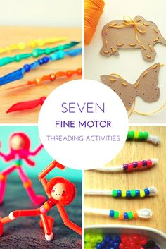 Tutus and Tea Parties: 7 Lacing Activities to Build Fine Motor Skills #kids #finemotor