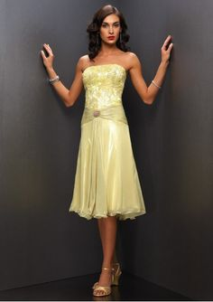 b29c2af3a3a Chiffon Beaded Straight Neckine with Short A line Skirt 2011 Evening Dress  This chiffon evening dress is boned and lined in first-class handwork