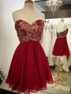 Pretty Sequin A-Line Short Prom Dress,Homecoming Dress,Graduation Dress #SIMIBridal #homecomingdresses