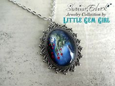 Hey, I found this really awesome Etsy listing at https://www.etsy.com/listing/187156433/night-of-the-bleeding-hearts-necklace