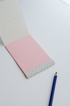 Matchbook notepad Blue and pink Retro flower by vertceriseshop