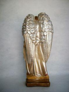 My Dream Home, Statue, Crafts, House, Plaster Crafts, Handmade Crafts, Plaster Art, Catholic Art, Christmas Ornaments