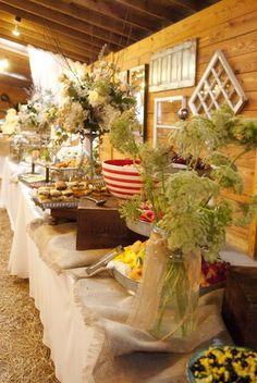 Rustic, vintage buffet