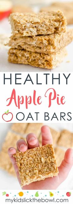 healthy oat bars, apple pie flavour an easy recipe perfect for kids toddlers and baby led weaning, #healthysnack #foodforkids #vegan #babyledweaning