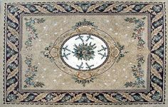 Arabesque Floral Pattern - Marble Mosaic Rugs for a Better Home Decor - Mosaic Decor Buy Mosaic Art from Mozaico