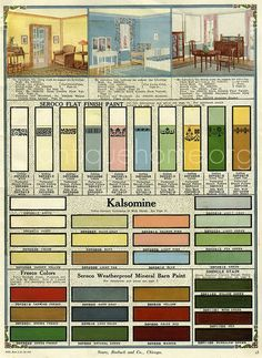Seroco Paint Sears And Roebuck 1918 Interior Paint Colorsinterior Designvintage
