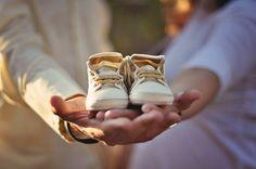 Baby shoes cute photo idea