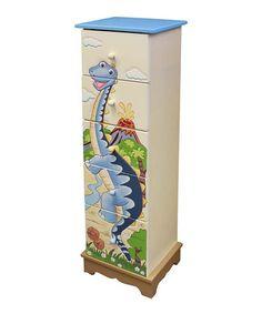 Look what I found on #zulily! Dinosaur Kingdom Five-Drawer Cabinet #zulilyfinds