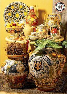 Beautiful Italian pottery