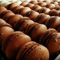Chocolate macarons. .