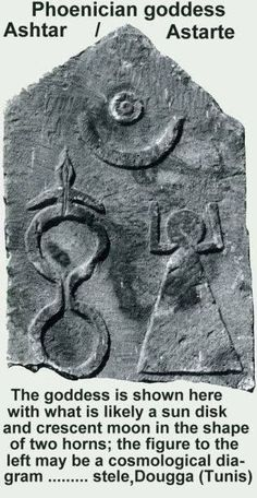 A Punic stele depicting Astarte - Click on the images to visit the Historyteller website.