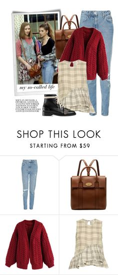 """My So-Called Life of 1994"" by sweet-jolly-looks ❤ liked on Polyvore featuring Topshop, Mulberry, Chicwish, Isa Arfen and Gucci"