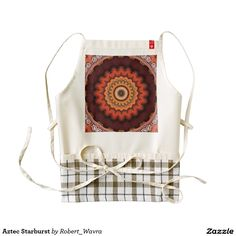 Aztec Starburst Zazzle HEART Apron