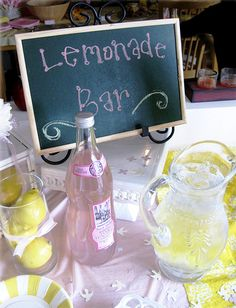 What a fun touch to a party menu.  I want to try this at my friends bridal shower.