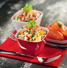 Fruchtiger Paprika-Reissalat
