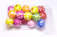 Bag of Wood Large Donut Flower Beads Bead Beading 14mm - 5mm Hole