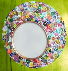 bottlecap mirror