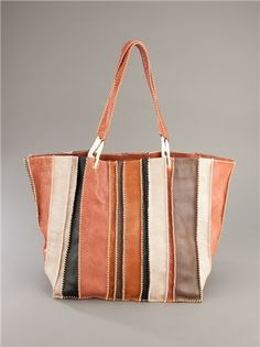 JAMIN PUECH  STRIPED TOTE