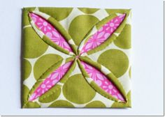 FREE project: Cathedral Windows Coaster (from In a Sewing Mood)