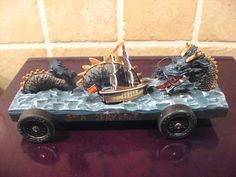 Pinewood Derby car ~ Lock Ness Monster