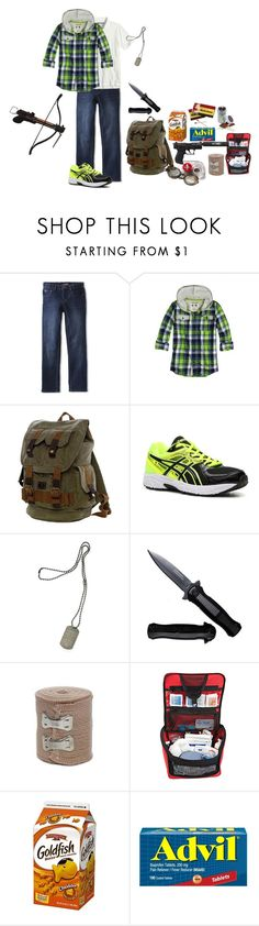 """After the prison"" by bec1995 ❤ liked on Polyvore featuring Asics, Dsquared2, Dot & Bo, men's fashion and menswear"