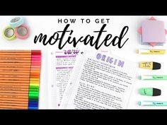 How to get motivated How To Get Motivated, Exams Tips, Study Motivation, Brush Pen, Study Tips, Sticky Notes, Organization, Studying, Organisation