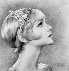Daisy, Great Gatsby. I've never seen the movie but I like the drawing!