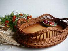 Tác oválný do sady - zakázka / Zboží prodejce woltér Rattan, Wicker, Ideas Prácticas, Paper Weaving, Baskets On Wall, Basket Weaving, Home Deco, Making Out, Photo Wall