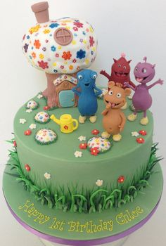 I had never heard of the 'Cuddlies' until asked for this cake but love these little critters! So happy and colourful Happy Birthday Chloe :-) 2 Birthday Cake, 2nd Birthday Parties, Birthday Ideas, Crazy Cakes, Baby Tv Cake, Happy 1st Birthdays, Novelty Cakes, Birthday Decorations, Cake Designs