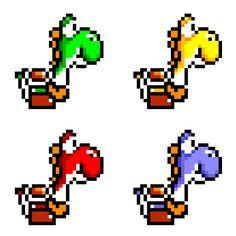 16-Bit Yoshis by NathanMarino