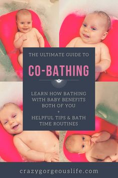 Did you know bathing with your baby has proven health benefits for both of you? Pin & read to learn why - Plus helpful tips & baby bath time routines!