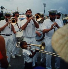 Trombone Shorty playing with the Carlsberg Brass Band in 1991 at Jazz Fest. Now you see where the nickname comes from! #NOLA #music