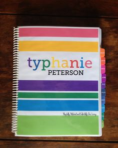 DIY Personalized Life Planner   Typhanie Peterson Design
