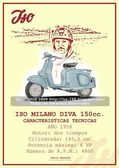 Iso Milano Diva 150cc. - 1958
