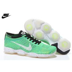 sale retailer f39c7 3133c Womens Nike Zoom Fit Agility Flyknit Running Shoes Electric Green Vapor  Green Poison Green 698616-
