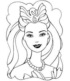 Face Barbie Coloring Pages