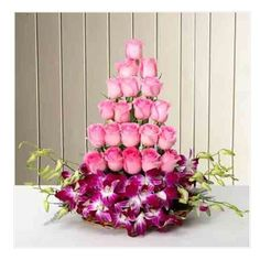 in offers same day online Pink Roses and Orchids Arrangement delivery in India at the best prices for valentines, birthday, anniversary, mother's day and festivals. Online Flower Delivery, Fresh Flower Delivery, Same Day Flower Delivery, Online Birthday Gifts, Online Gifts, Anniversary Flowers, Anniversary Gifts, Wedding Anniversary, Send Roses