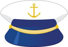 Captain hat Sailor Birthday, 1st Boy Birthday, Sailboat Baby Quilt, Ancient Egyptian Costume, Nautical Clipart, Nautical Marine, Hat Crafts, Nautical Party, Diy Hat