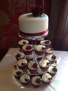 burgundy wedding | Navy Blue, Burgundy & Ivory cupcake ...