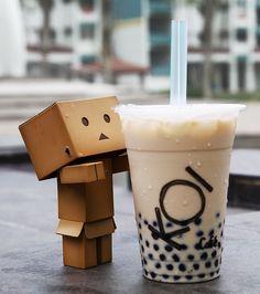 Cute Box Robots   Who doesn't love a cute box robot and bubble tea?
