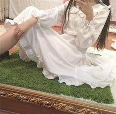 Fabric: Cotton + Polyester  S: shoulder: 36 bust: 90 skirt length: 100   M: shoulder: 37 bust: 94 skirt length: 104   L: shoulder: 38 bust: 98 skirt length: 105