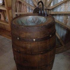 Whiskey Barrel Sink....
