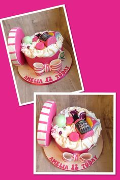 Lush cosmetics cake