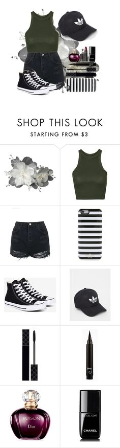 """Poison"" by messyrhythm ❤ liked on Polyvore featuring Topshop, Kate Spade, Converse, adidas, Gucci, Chanel and Lipstick Queen"