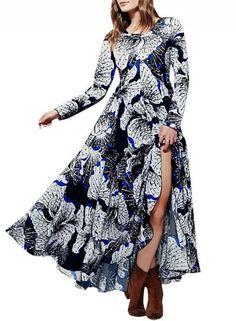 #Valentines #AdoreWe #Oasap - #oasap Women's Fashion Spring Long Sleeve Floral Print Maxi Dress - AdoreWe.com