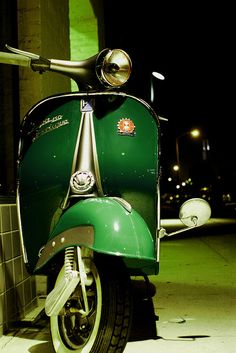 Vespa green | More colourful lusciousness here: http://mylusciouslife.com/photo-galleries/a-colourful-life-colours-patterns-and-textiles/