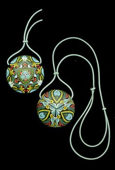 William Morris Inspired Pendant by It's all about color, via Flickr
